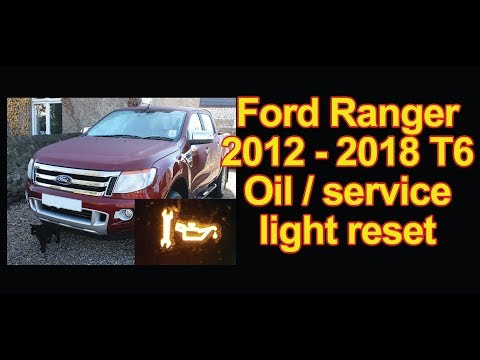Ford Ranger T6 2012 onwards oil service light reset procedure