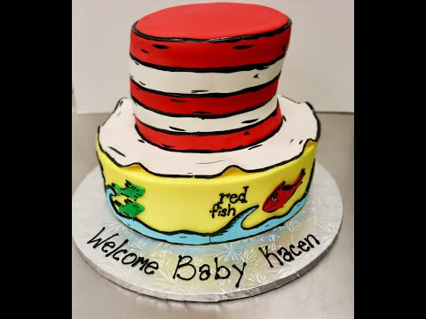 Dr. Seuss Cake| First Voiceover  *Cat In The Hat & One Fish, Two Fish, Red Fish,  Blue Fish*