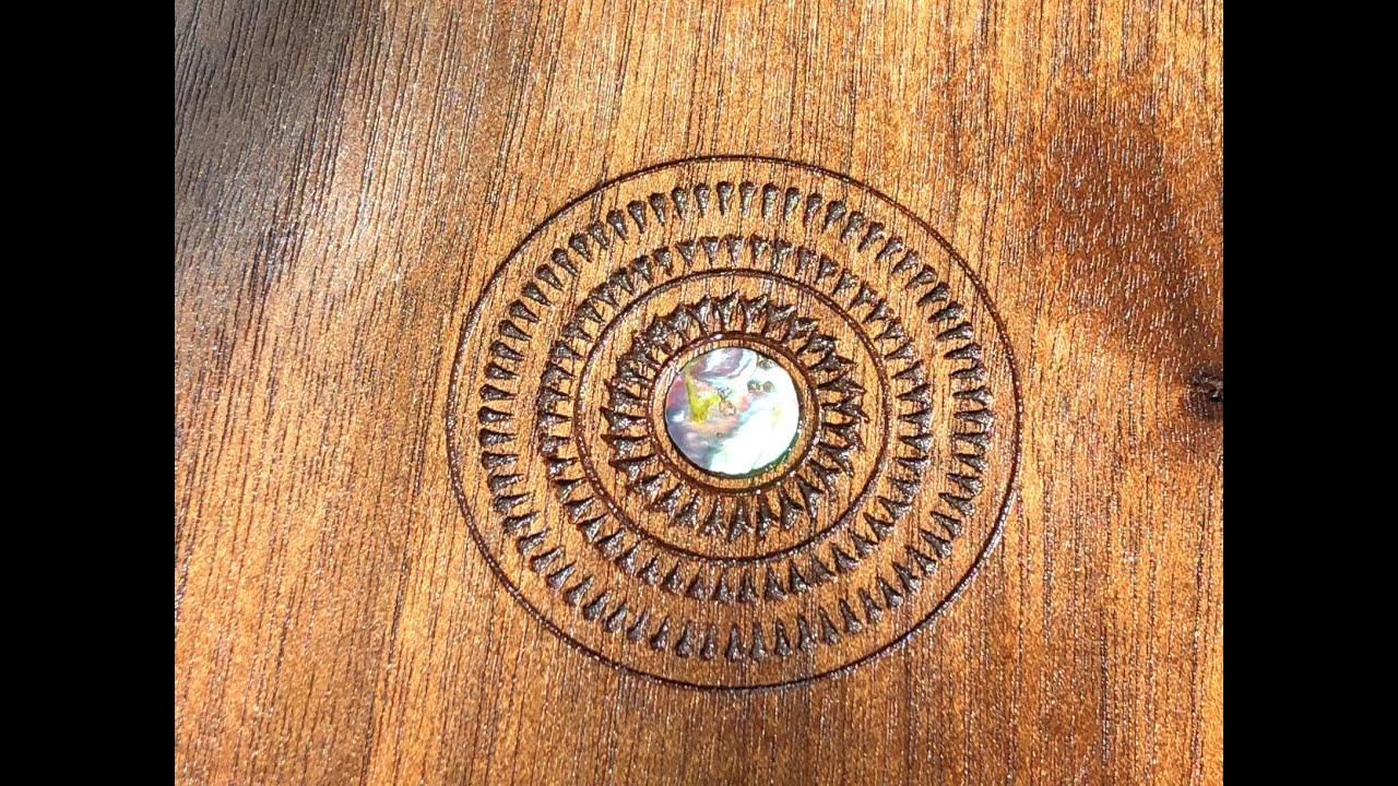 Abalone Inlay Walnut Bowl