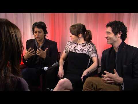 Jonas Chernick, Emily Hampshire and Vik Sahay at TIFF 2012 for My Awkward Sexual Adventure