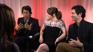 Jonas Chernick, Emily Hampshire and Vik Sahay at TIFF 2012 for My Awkward Sexual Adventure