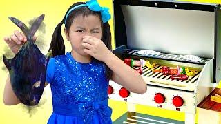 Cooking Food Nursery Rhymes Song | Jannie Pretend Play Cooks Toy Foods Sing-Along Kids Songs