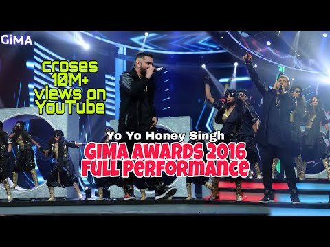 Yo Yo Honey Singh Gima awards 2016 | Full Performance | Raat Jashan Di | BrownRang |Dheere Dheere se
