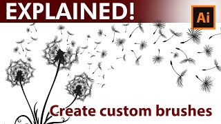 Create Custom - Dandelion - Brushes in - Adobe Illustrator Tutorial
