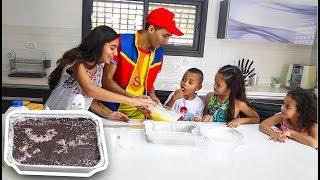 عمو صابر وكعكة البسكوت - AMO SABER BISCUIT CAKE