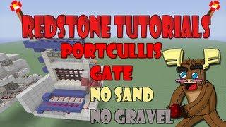 "Minecraft Xbox 360 - Portcullis gate ""No Gravel/Sand"" ( ""Tutorial"" )"