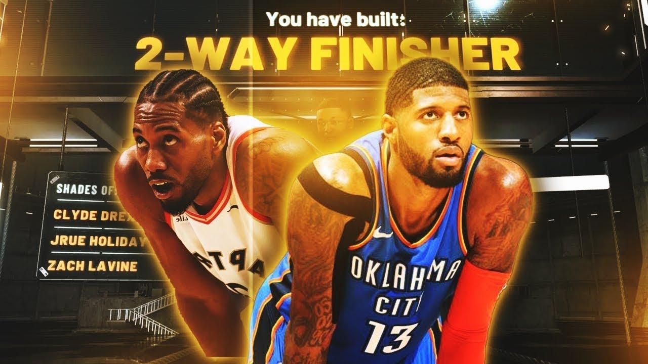 (NBA 2k21) MY OVERPOWER DEMIGOD 2 WAY FINISHER (MONTAGE)