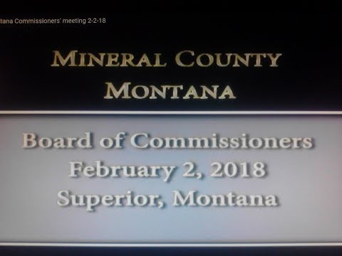Mineral County Montana Commissioners' meeting 2-2-18