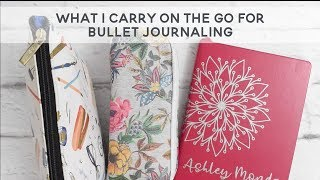 What I carry for my BUJO on the go