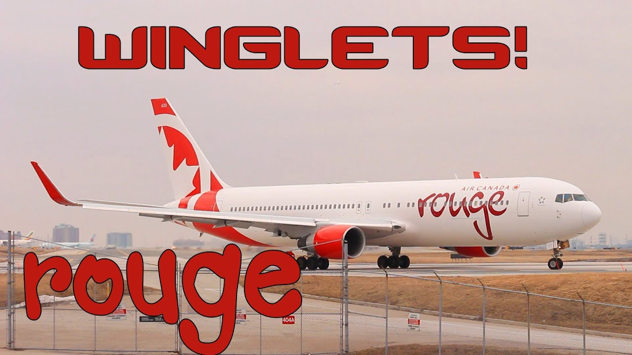 **WINGLETS** Rouge 767 and FIVE AC Rouge A319's [HD] [Toronto pearson] -  YouTube