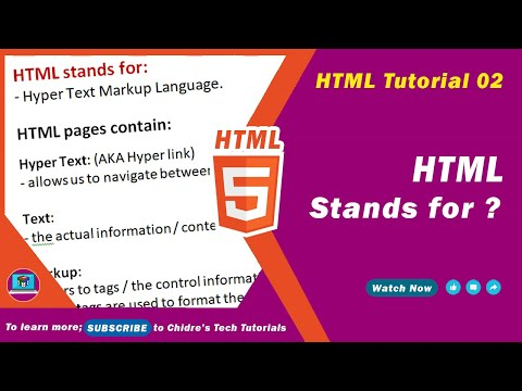 HTML Video Tutorial - 02 -  HTML Stands For ... ?
