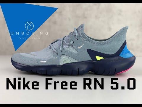 nike-free-rn-5.0-'obsidian-mist/mtlc-silver'- -unboxing-&-on-feet- -running-shoes- -2019