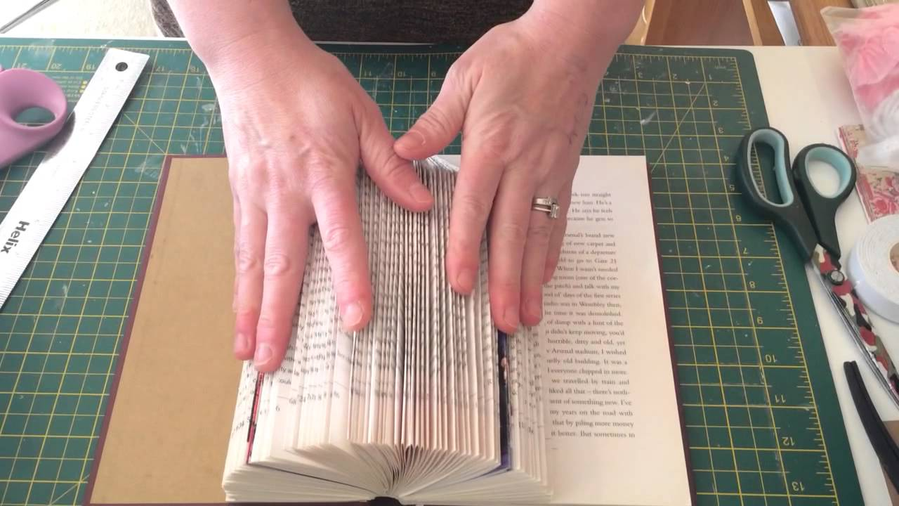 How To Make A Book Quick ~ Book folding birdcage quick tutorial youtube