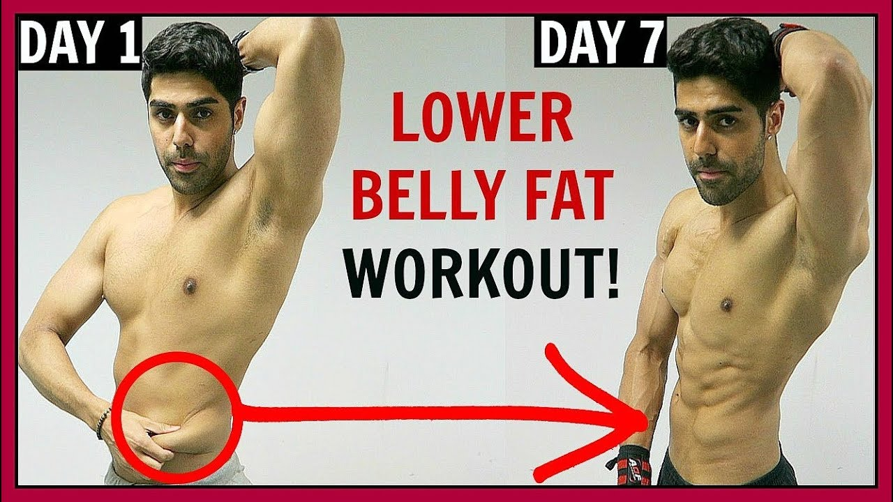 How To Lose Lower Belly Fat In 1 Week Best Workout Youtube