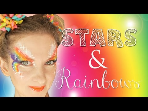 Stars and Rainbows Face Painting Tutorial
