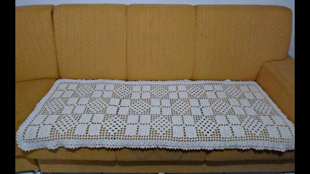 Manta para sof 3 lugares de croch youtube - Manta de sofa ...