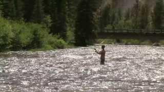 Річка середній Пайетт розщедритися на Національний ліс Бойсе в штаті Айдахо