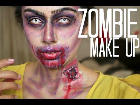 Walking dead inspired HALLOWEEN Zombie Makeup Tutorial | Easy ...