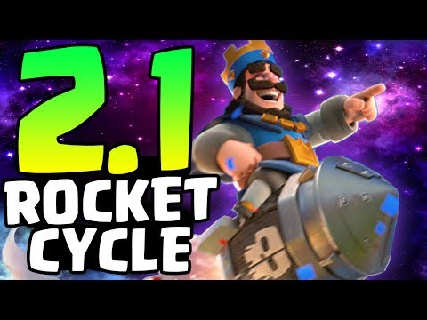 2.1 ROCKET CYCLE! FASTEST ROCKET DECK! DEFEATING MAXED PLAYERS IN GRAND CHALLENGES! | Clash Royale