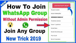 How to Join Whatsapp Group Without Admin Permission