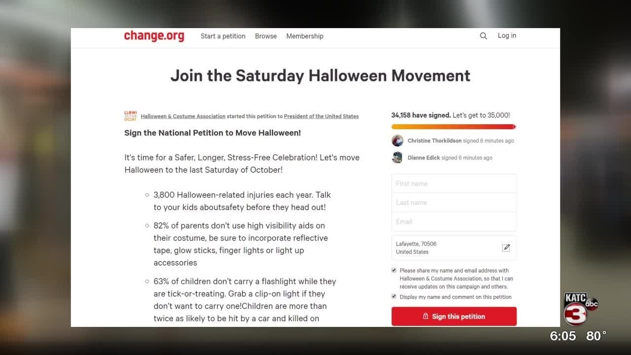 Group Hoping To Change The Date Of Halloween With Petition