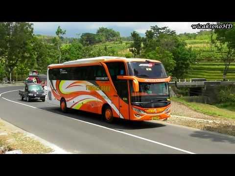 Manuver Lincah Bus Di Jalur Eksotis   Jalur Pegunungan Wonogiri