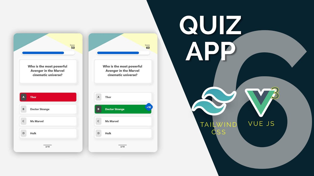 Quiz App with Vue 3, Tailwind and Open Trivia API Part 6: End of Quiz Overlay