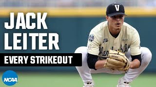 Every Jack Leiter strikeout from 2021 NCAA baseball tournament