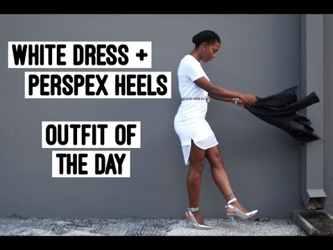 0fdb23a4e74 How To Style Perspex Heels + White Dress
