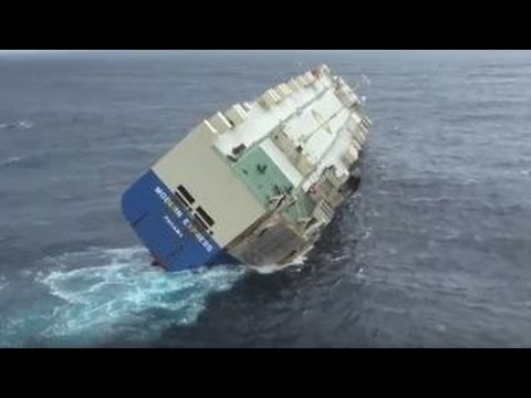 Abandoned cargo ship lists dangerously in Bay of Biscay