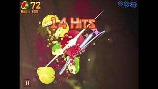 Fruit Ninja classic: trying to reach 225 points (score)