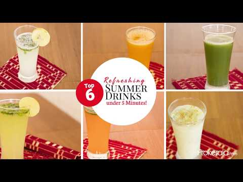 Top 6 Refreshing Homemade Summer Drinks Made Under 5 Minutes!
