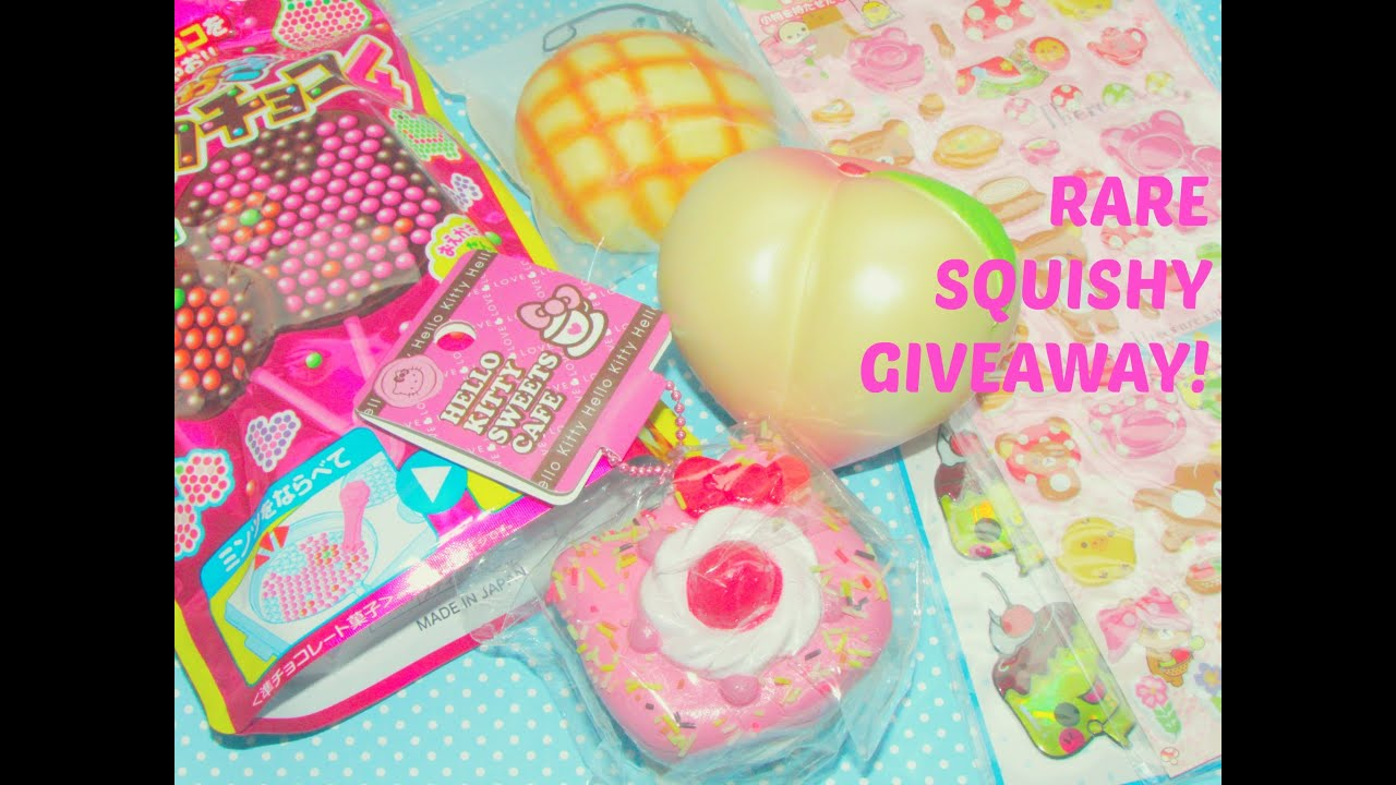 Rare Squishy Giveaway : KAWAII RARE SQUISHY GIVEAWAY +   USD25 Gift Card Giveaway! ?(*???*)? (CLOSED) - YouTube