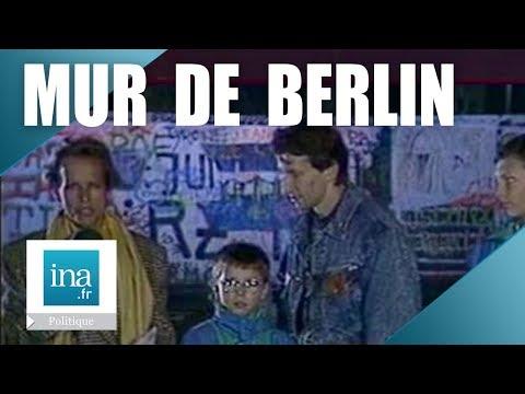 Christine Ockrent en direct du Mur de Berlin avant sa chute - Archive INA