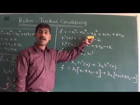 Operations Research(vol-7)-NON - LINEAR PROGRAMMING(KUHN-TUCKER METHOD) by Srinivasa rao