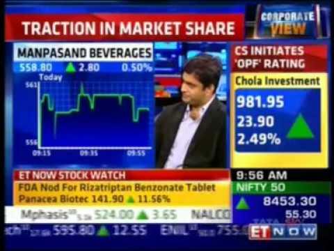 Mr. Abhishek Singh's interview on ET Now First Trades
