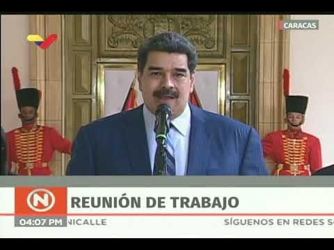 Presidente Nicolás Maduro, rueda de prensa, 7 enero 2019 desde Miraflores