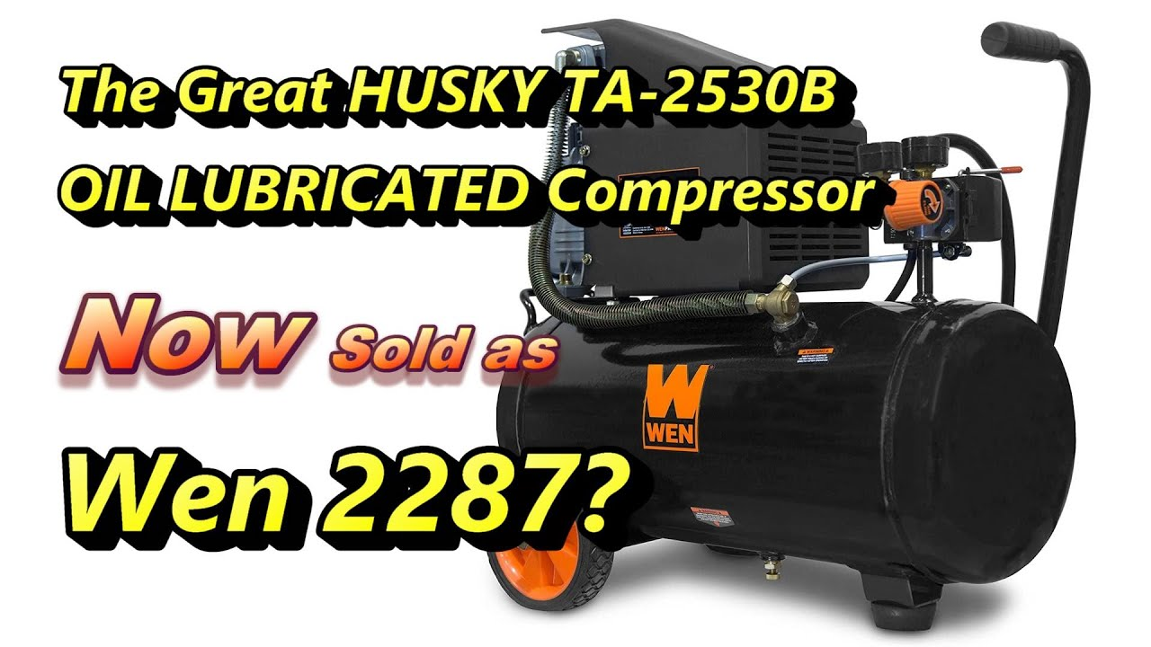 HUSKY TA-2530B AIR COMPRESSOR QUICK GUIDE