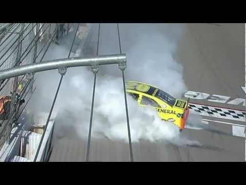 Final lap Las Vegas NASCAR race, Matt Kenseth wins!