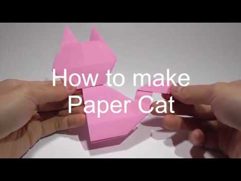 [ORIGAMI DIY]How to make Easy Paper Cat