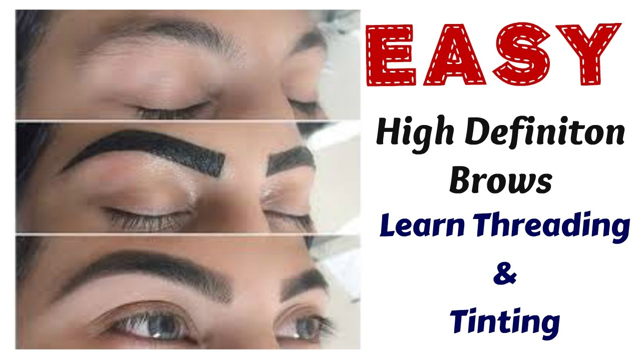 Hd Brows Routine Learn How To Thread Eyebrows Indian Method Youtube