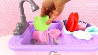 Jouets de Cuisine Vaisselle Evier Dishwashing Sink