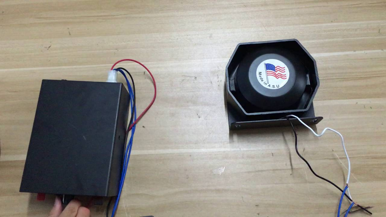 200w Car Electronic Siren With Speaker Youtube