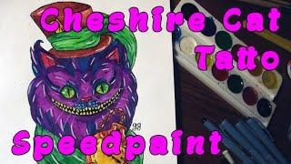 Cheshire Cat Tatto | Чеширский Кот - Рисую Эскиз Тату Акварелью