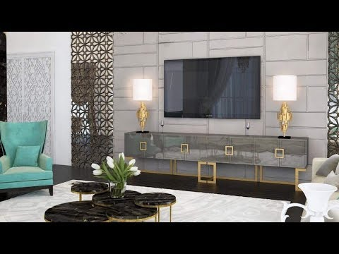 Modern TV Wall Mount Stand Decoration Ideas 2019  TV Unit