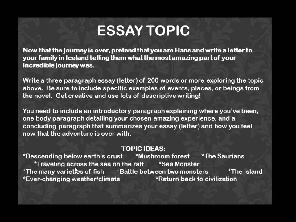 la b journey to the center of the earth essay