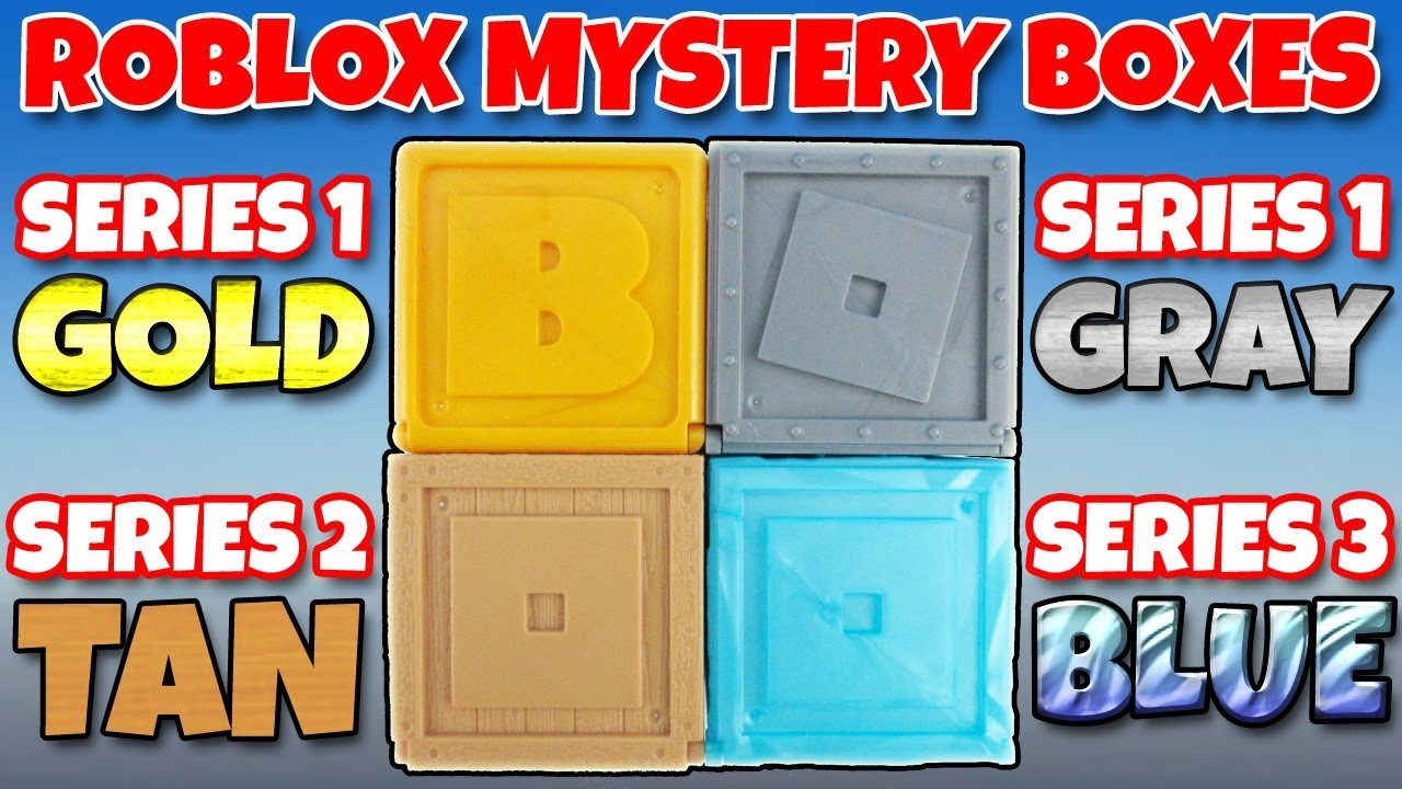 Roblox Mystery Box Series 3 - Roblox Mystery Box Opening Series 1 2 3 Gold Box Mystery Figure Toy Review Trusty Toy Channel