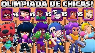 WHAT IS THE BEST BRAWLER? | OLYMPICS OF GIRLS BRAWL STARS