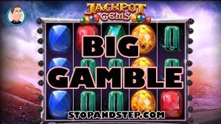 Jackpot Gems £500 Jackpot Slot Machine BIG GAMBLE