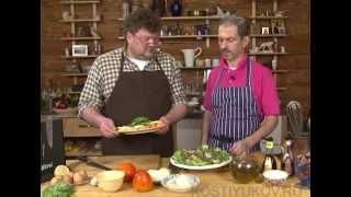 Карпачо из хурмы и теплый салат из куриной печени